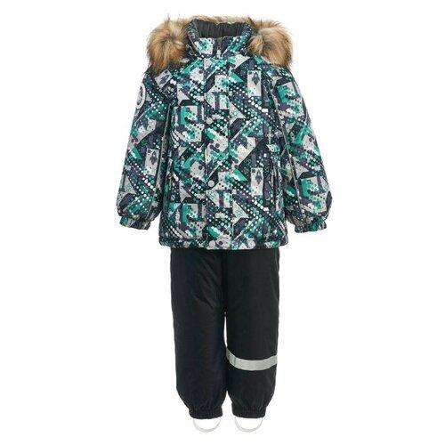 Комплект с полукомбинезоном KISU размер 92, зеленый/серый/черный ботинки t taccardi размер 32 черный