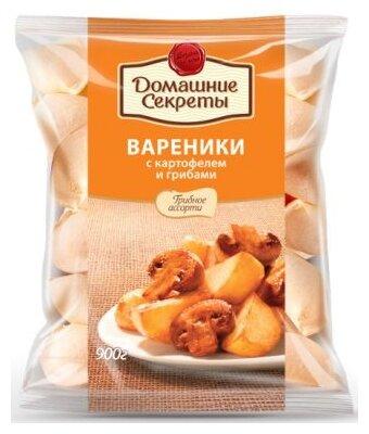 Домашние секреты Вареники с картофелем и грибами 900 г
