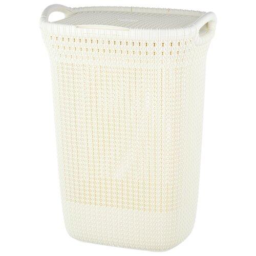 CURVER Корзина для белья Knit 62x45x34см молочный корзина для белья natural house цветы ободок цвет молочный 29 х 29 х 37 см