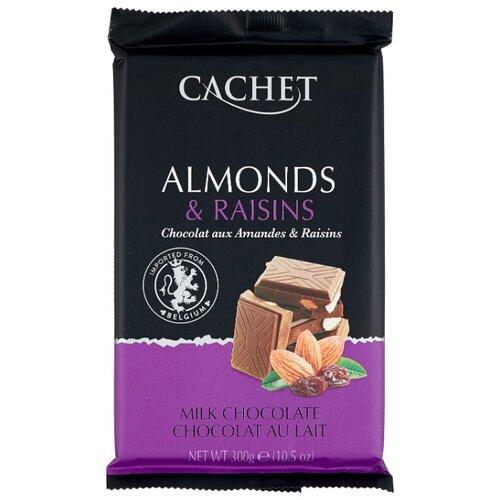 шоколад cachet organic органический горький 57% с лесными ягодами 100 г Шоколад Cachet молочный шоколад с миндалем и изюмом 32%, 300 г