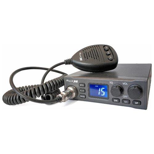 Автомобильная Си-Би радиостанция Track 308 (27 МГц, 8 Вт, 12/24В)