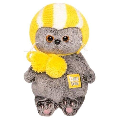 Купить Мягкая игрушка Basik&Co Кот Басик baby в спортивной шапке 20 см, Мягкие игрушки