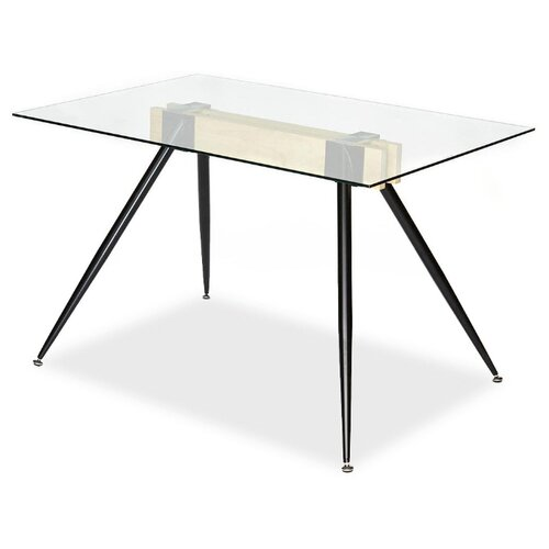 Стол кухонный TetChair Frondo, ДхШ: 120 х 80 см, черный стол tetchair brugge mod edt ve001 120 150х80х75 см