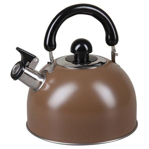 Pomi d'Oro Чайник со свистком PSS-650014 3.5 л, коричневый кастрюля pomi d oro facilita pss 595252 2 5 л стальной