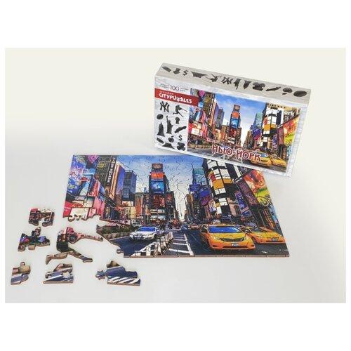 Фото - Фигурный деревянный пазл Citypuzzles Нью-Йорк пазлы нескучные игры деревянный пазл citypuzzles лондон