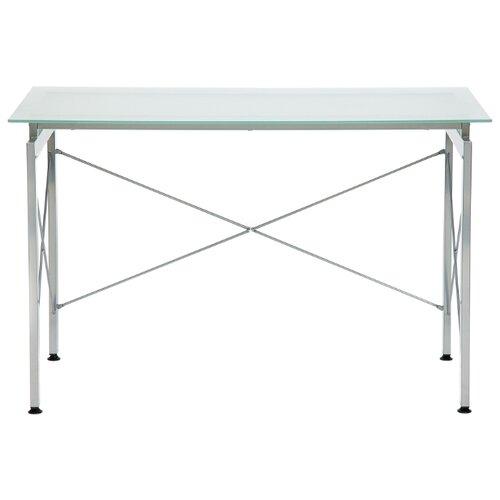 Компьютерный стол TetChair WRX-10, 110х52 см, цвет: стекло матовое/серый каркас