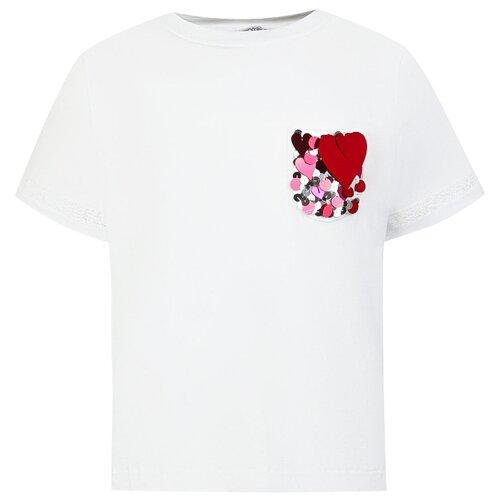 Фото - Футболка Simonetta, размер 104, белый simonetta tiny pубашка