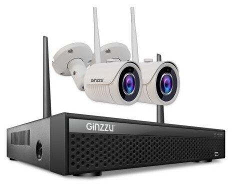 Комплект видеонаблюдения Ginzzu HK 424W 2 камеры