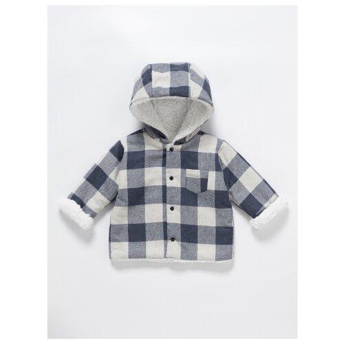 Купить Куртка artie размер 74/48, сине-белый/клетка, Куртки и пуховики