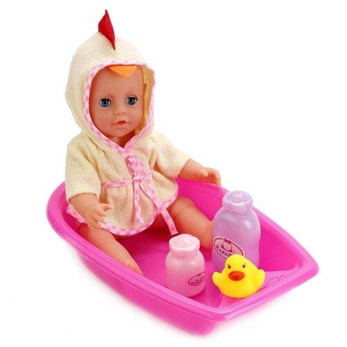 Интерактивный пупс Карапуз в ванне с аксессуарами, 25 см, Y25DP-BB-BATH-RU, Куклы и пупсы  - купить со скидкой