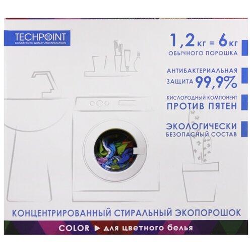 Стиральный порошок TECHPOINT для цветного белья картонная пачка 1.2 кг