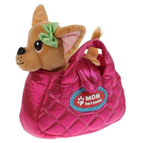 Мягкая игрушка Мой питомец Собака в розовой сумочке 15 см