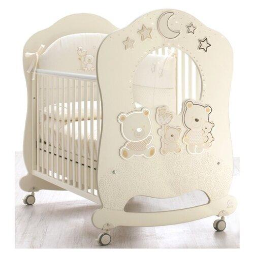 Кроватка Italbaby Happy Family Oblo (качалка), на полозьях кремовый балдахин тюлевый italbaby happy family белый 840 0054 5