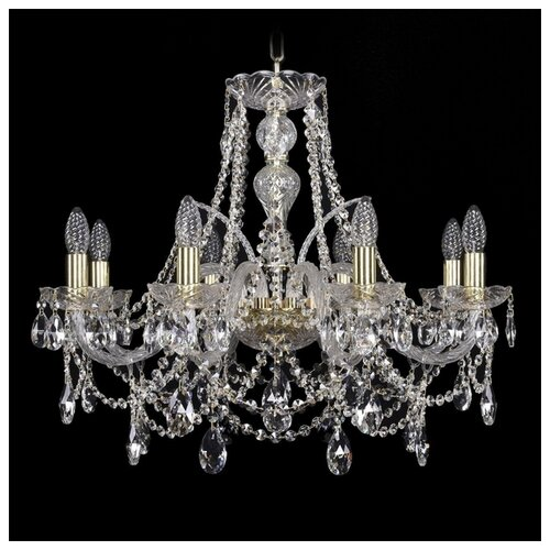Фото - Люстра Bohemia Ivele Crystal 1411 1411/8/240/G, E14, 320 Вт люстра bohemia ivele crystal 1411 1411 6 141 g e14 240 вт