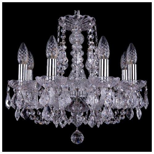 Люстра Bohemia Ivele Crystal 1406 1406/8/141/Ni/Leafs, E14, 320 Вт подвесная люстра 1406 8 141 pa