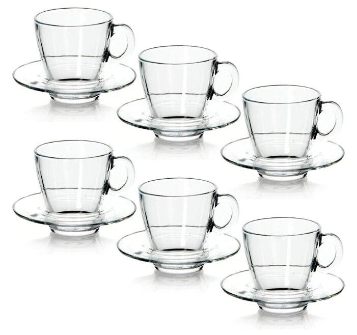 Кофейный сервиз Pasabahce Aqua 95756, 12 предметов