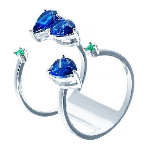 JV Кольцо с фианитами из серебра SR27189-R1-KO-001-WG, размер 16.5 кольцо из золота юшnone r1