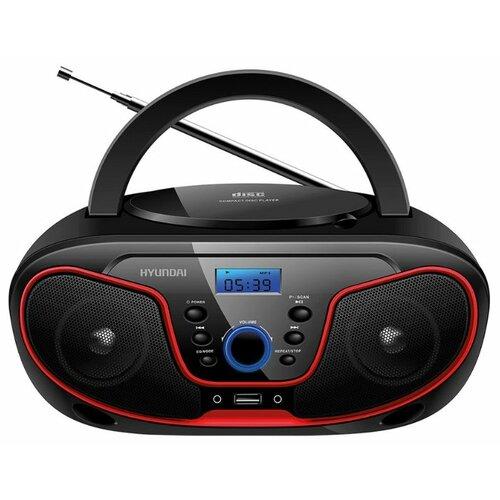 Магнитола Hyundai H-PCD140/H-PCD160/H-PCD180 черный/красный