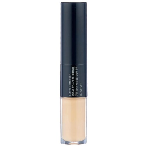 The Saem Консилер Cover Perfection Ideal Concealer Duo, оттенок 02 Rich Beige консилер the saem cover perfection pot concealer 01 цвет 01 clear beige variant hex name d2ab8a