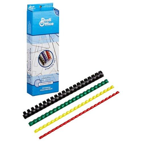 Фото - Пружины для переплета пластиковые ProfiOffice стартовый набор 36 штук в упаковке портмоне profioffice mt 48s синий