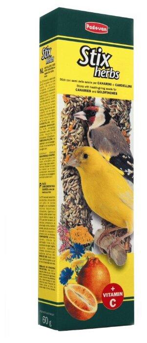 Лакомство для птиц Padovan Stix Herbs для канареек антистрессовые с травами