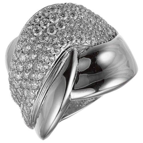 JV Кольцо с фианитами из серебра JR-3033-5-001-WG, размер 16 jv женское серебряное кольцо с куб циркониями в позолоте wr22790 bm 001 vr 16 5