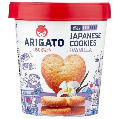 цена на Печенье Arigato Japanese Cookies сдобное ванильное, 130 г