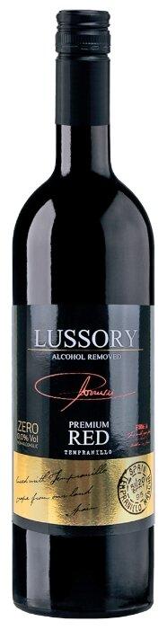 Вино безалкогольное Lussory Premium красное сухое Tempranillo 0.75 л