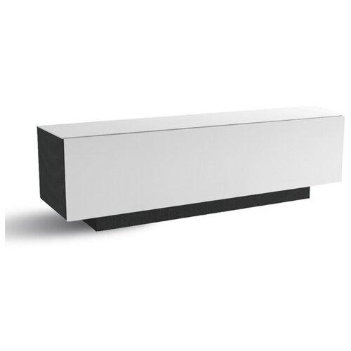 Тумба под телевизор MetalDesign MD 570.1540/570.1240, ШхГхВ: 150х42х45 см, цвет: черный/белый