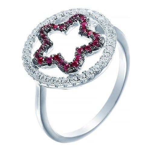 JV Кольцо с фианитами из серебра SR8046-M-KO-001-WG, размер 16 jv кольцо с фианитами из серебра r27208 ko 001 wg размер 16