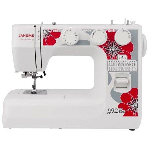 Швейная машина Janome J925S, белый/красный/серый