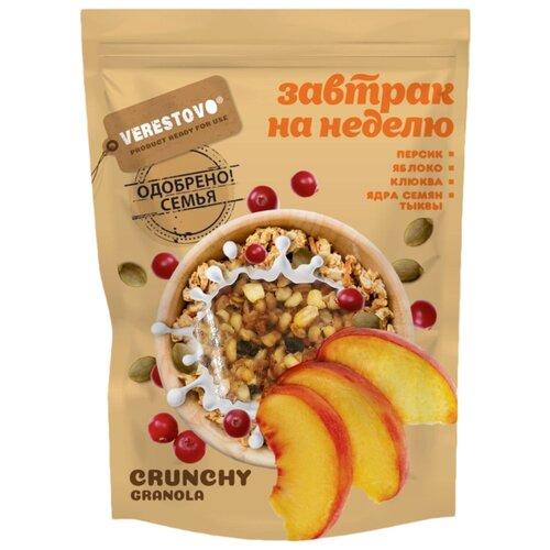 Гранола Verestovo хлопья персик, клюква, семена тыквы, дой-пак, 300 г гранола verestovo хлопья персик клюква семена тыквы дой пак 300 г