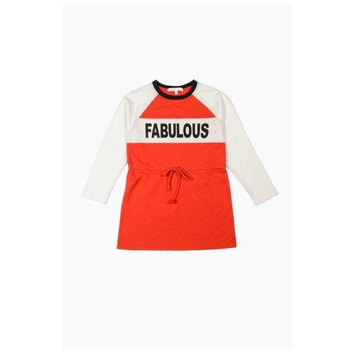 Платье MODIS размер 158, красный/белый рубашка modis размер 158 белый
