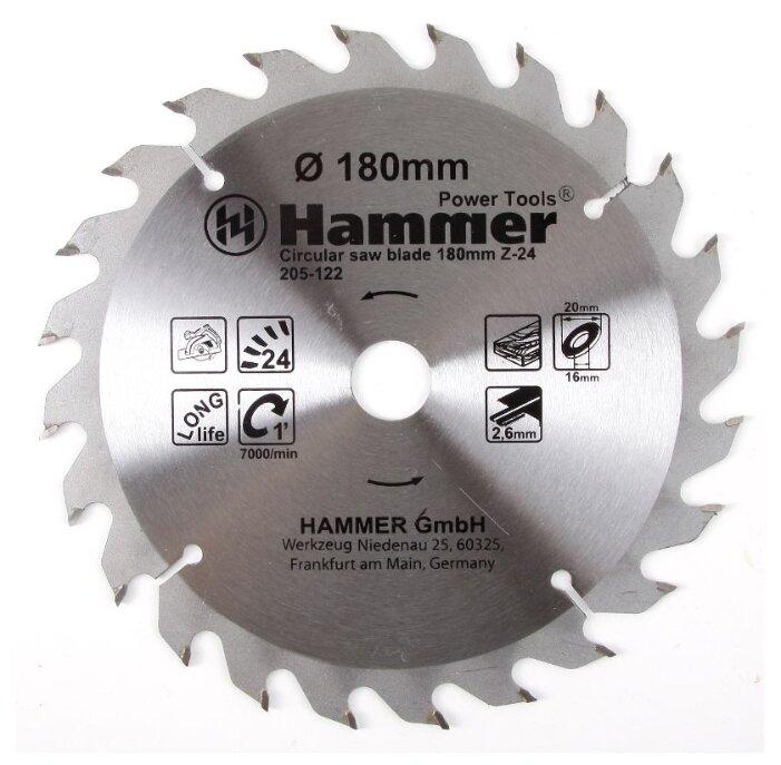 Пильный диск Hammer Flex 205-122 CSB WD 180х20 мм