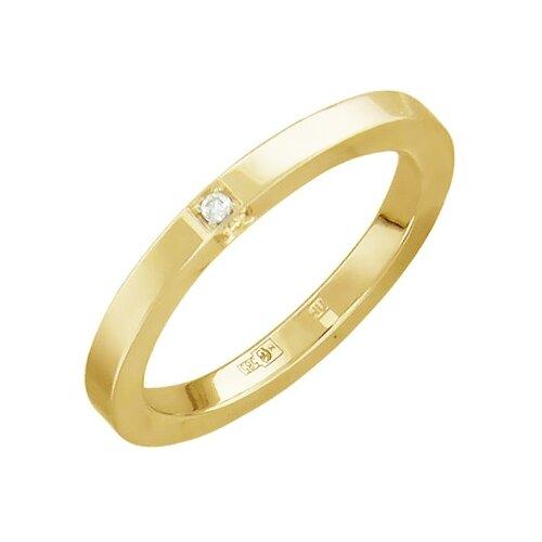 Эстет Кольцо с бриллиантами из желтого золота 01О630297, размер 21