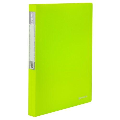 Купить BRAUBERG Папка-дисплей на 40 вкладышей Neon А4, 25 мм зеленая, Файлы и папки