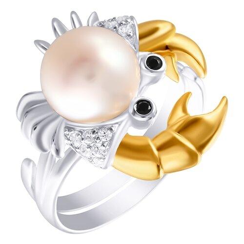ELEMENT47 Кольцо из серебра 925 пробы с кубическим цирконием и культивированным жемчугом KR150507_KO_WP_001_WG, размер 16- преимущества, отзывы, как заказать товар за 5408 руб. Бренд ELEMENT47