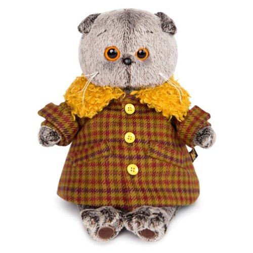 Купить Мягкая игрушка Basik&Co Кот Басик в пальто с желтым меховым воротником 19 см, Мягкие игрушки