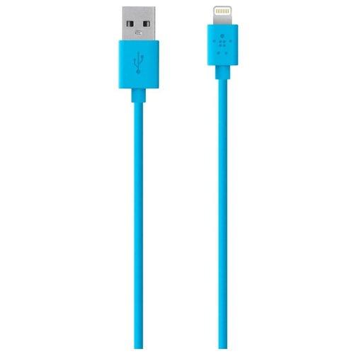 Кабель Belkin MIXIT USB - Apple Lightning (F8J023bt04) 1.2 м blue кабель usb belkin f2cu036btblk f2cu036btblk