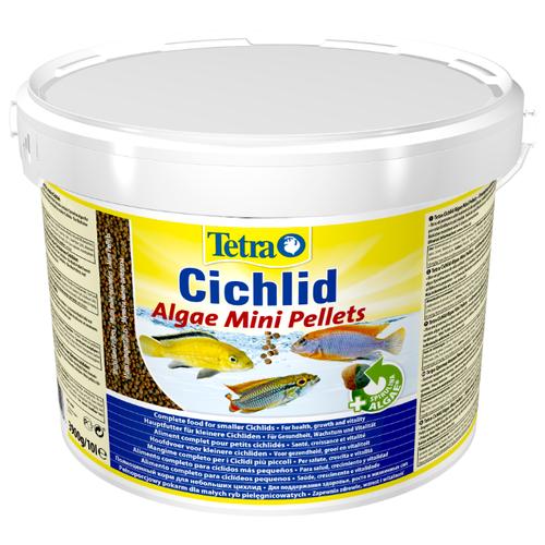 Сухой корм для рыб Tetra Cichlid Algae Mini 10000 мл корм сухой prodac algae wafer mini для аквариумных пресноводных рыб в таблетках 135 г
