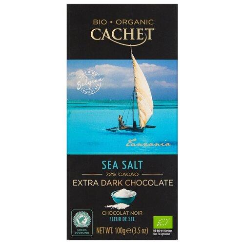 Шоколад Cachet горький с морской солью, 72%, 100 г шоколад cachet bio organic элитный бельгийский горький 85% какао танзания 100 г