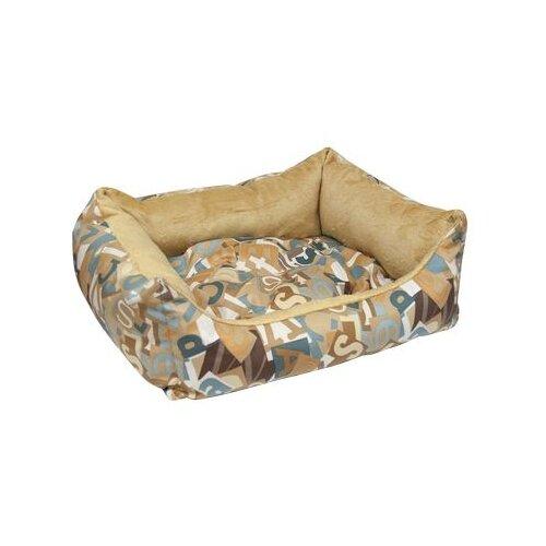 Лежак для собак и кошек Зооник Азбука 52х45х17 см коричневый