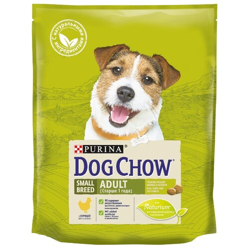 Корм для собак DOG CHOW Adult Small Breed с курицей для взрослых собак малых пород (0.8 кг)Корма для собак<br>