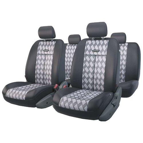 Комплект чехлов AUTOPROFI TT-902J серый/черный аксессуары для автомобиля autoprofi автомобильные чехлы tt airbag tt 902j 9 предметов