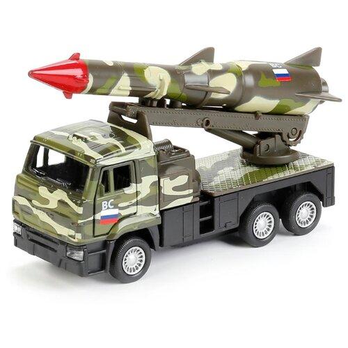 Купить Ракетная установка ТЕХНОПАРК КамАЗ Вооруженные силы (SB-16-69-A-WB) 12 см зеленый камуфляж, Машинки и техника