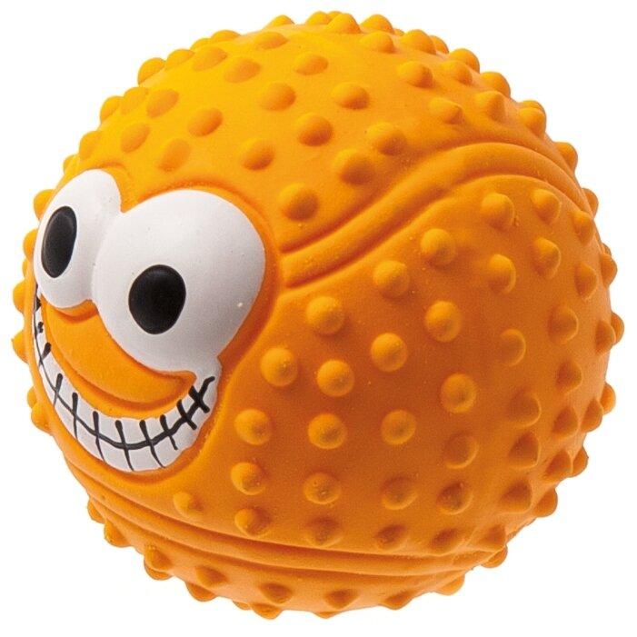 Мячик для собак ZooOne L-435 Теннисный с глазами 7,5 см