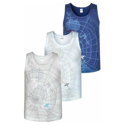 Купить Трусы BAYKAR 3 шт., размер 158/164, белый/серый/синий, Белье и пляжная мода
