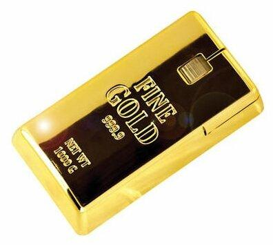 Мышь Mustard Fine Gold mouse Gold USB