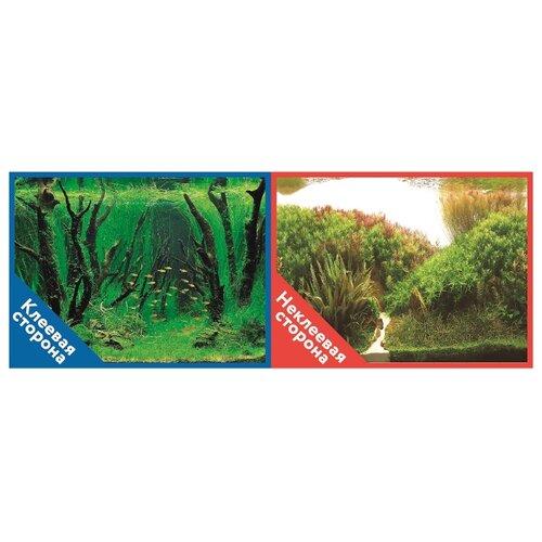 Пленочный фон Prime Коряги с растениями/Растительные холмы двухсторонний 30х60 см