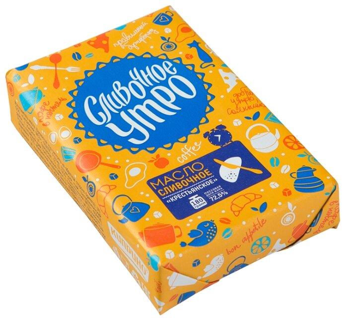 Сливочное утро Масло сливочное Крестьянское 72.5%, 180 г